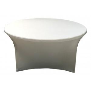 Housse Lisse Spandex ORANGE pour table pliante ronde Diamètre 150 cm