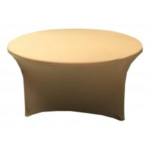 Housse Lisse Spandex ARGENTEE pour table pliante ronde Diamètre 150 cm