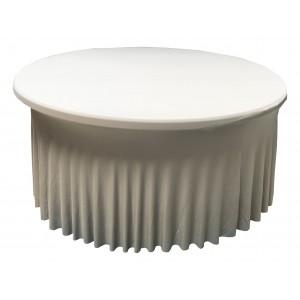 Housse Ondulée Spandex ARGENTEE pour table pliante ronde Diamètre 150 cm