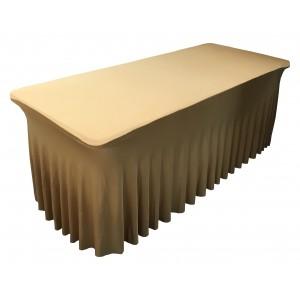 Housse Ondulée Spandex ORANGE pour table pliante rectangle 122cm x 61cm