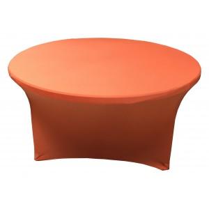 Housse Lisse Spandex BLEUE pour table pliante ronde Diamètre 180 cm