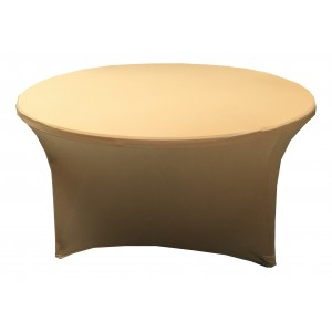 Housse Lisse Spandex ROSE pour table pliante ronde Diamètre 180 cm