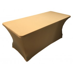 Housse Lisse Spandex ARGENTEE pour table pliante rectangle 200cm x 90cm