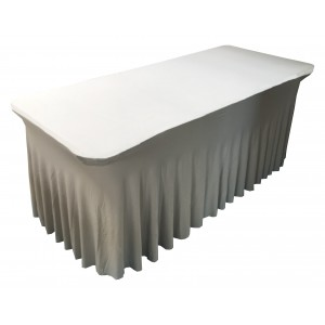 Housse Ondulée Spandex DOREE pour table pliante rectangle 240cm x 76cm