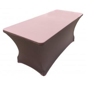 Housse Lisse Spandex ROSE pour table pliante rectangle 152cm x 76cm