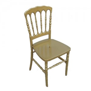 Chaise Napoléon Résine dorée
