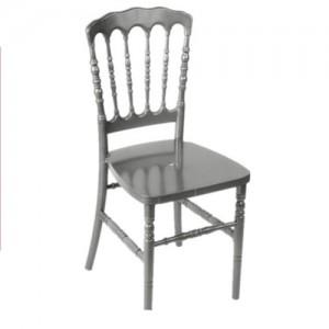 Chaise Napoléon Résine argentée