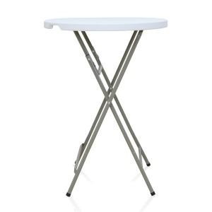 Table pliante ronde Mange-Debout, diamètre 80cm