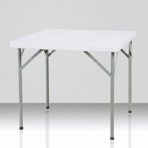 Table pliante carrée, 87cm x 87cm