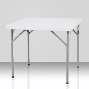 Table pliante carrée, 87cm x 87cm