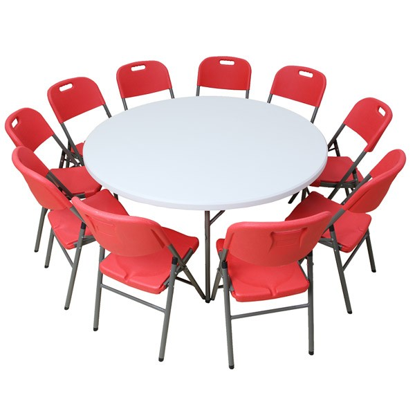 Table pliante ronde diam tre 122cm for Table pliante 4 personnes