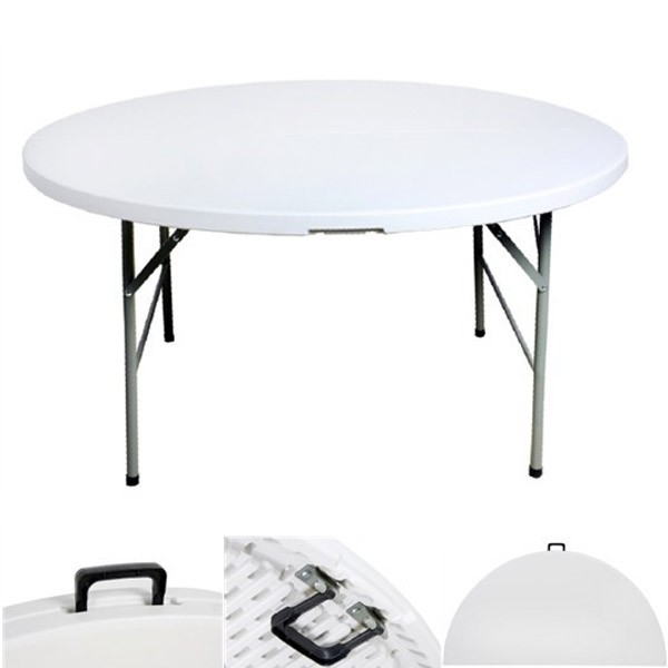 Table pliante en malette ronde diam tre 122cm for Diametre table ronde 4 personnes