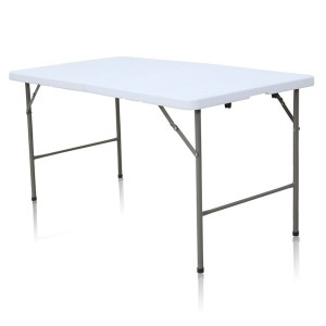 Table rectangle 152cm x 76cm, pliante en malette