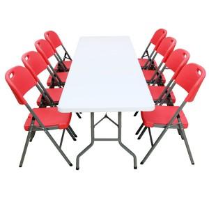 Table pliante rectangle 240cm x 76cm