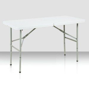 Table pliante rectangle 122cm x 61 cm, pliante en malette