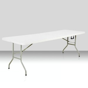Table rectangle 240cm x 76cm, pliante en malette
