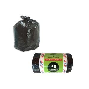 40 sacs poubelles lien classique 30 litres bjs fournitures. Black Bedroom Furniture Sets. Home Design Ideas