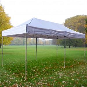 Tente pliante Alu 3m x 6m + Toit - structure carrée 30mm