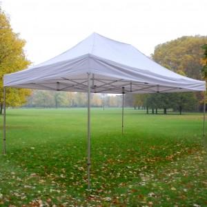 Tente pliante Alu 4m x 6m + toit - structure carrée 40mm