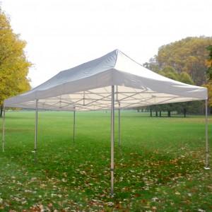 Tente pliante Alu 4m x 8m + toit - structure carrée 40mm