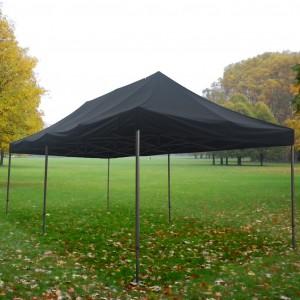 Tente pliante Alu 4m x 8m + toit - structure hexagonale 50mm