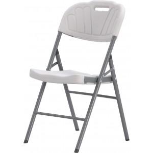Chaise blanche à motif en HPDE