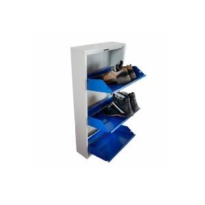 Armoires - Meuble à chaussures métalique 3 tiroirs