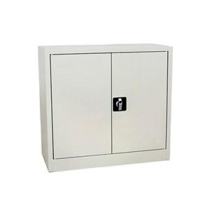 Armoires - Armoire basse portes battantes grise 100x80x38
